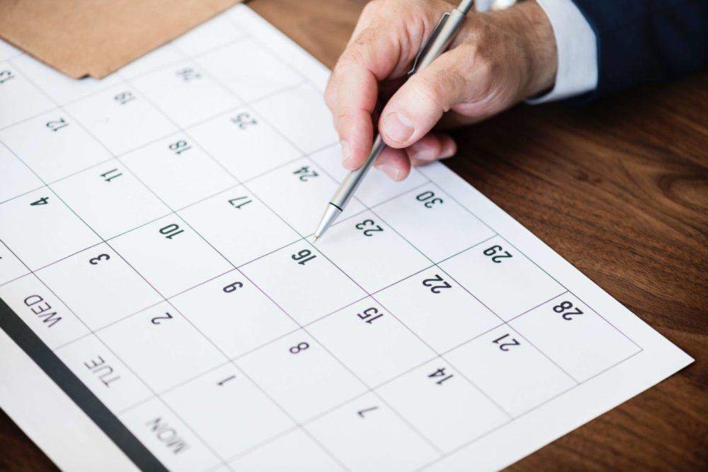 Liczenie w kalendarzu terminu