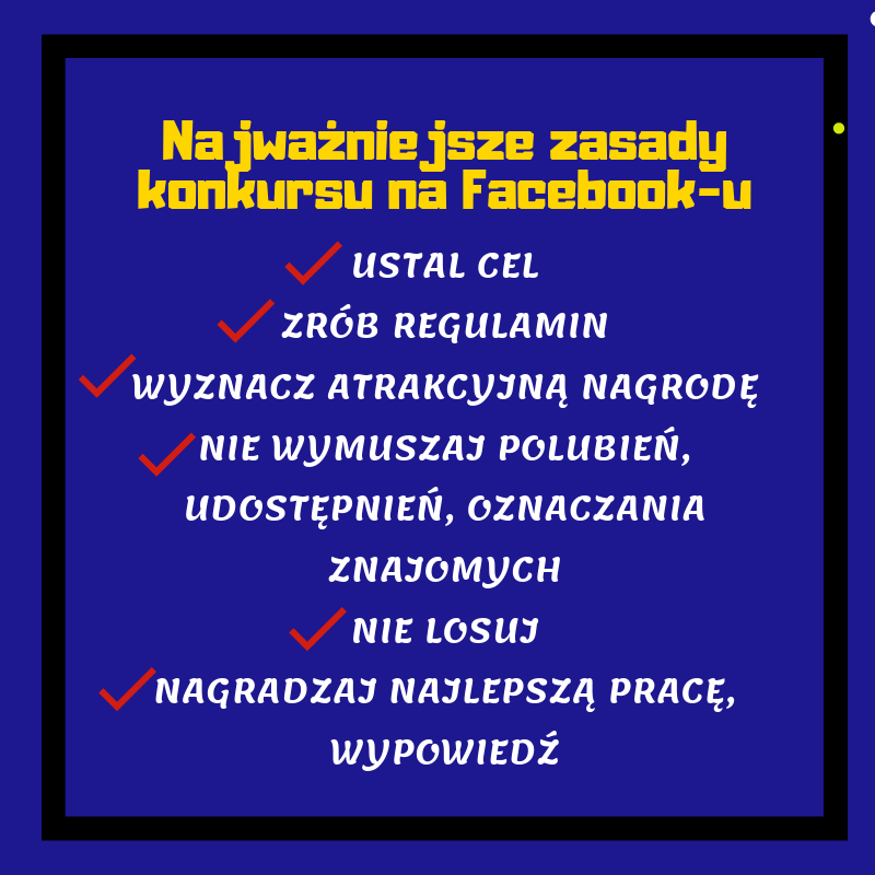 zasady konkursu na FB