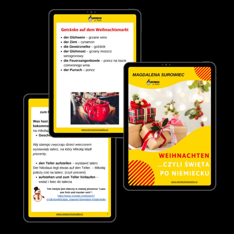 """E-book """"Weihnachten, czyli święta po niemiecku"""" - Niemiecki po ludzku"""