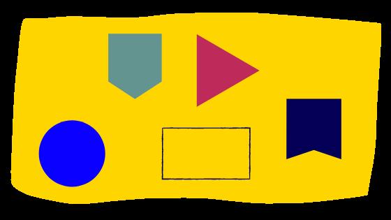 figury geometryczne w  instakaruzeli